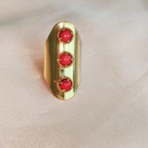 Anillo Maxi con detalles rojo