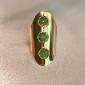 Anillo Maxi con detalles verde