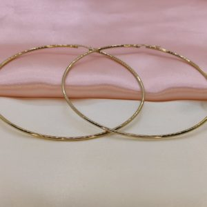 Argollas grandes delgadas medida 10 cm