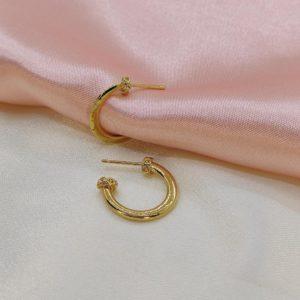 Argollas con baño de oro 1.5 cm