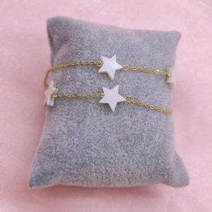 Pulsera de nacar forma estrella